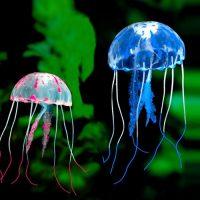 Sứa phát sáng trang trí bể cá jellyfish glowing Size Đại 11 cm