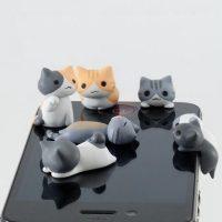 Nút che bụi tai nghe trang trí hình mèo