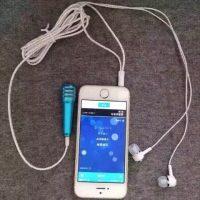 Micro hát karaoke mini cho điện thoại có tai nghe