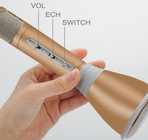 Micro karaoke kèm loa bluetooth K068