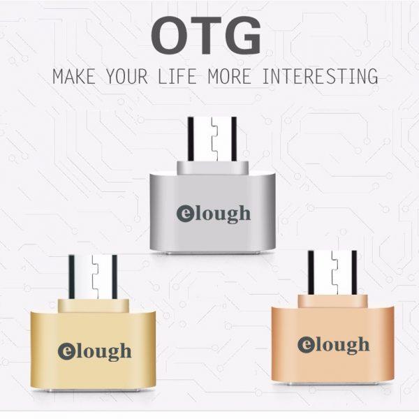 Đầu chuyển micro USB sang USB 2.0 OTG Elough