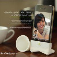 Loa Khuếch Đại Âm Thanh cho iPhone Horn Stand Speaker