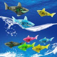 Cá mập robot có led chạy pin robotic Shark fish
