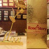HOA HỒNG MẠ VÀNG GOLDEN ROSE 24K ĐẾ LOVE