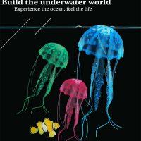 Sứa phát sáng trang trí bể cá jellyfish glowing Size Trung 8 cm