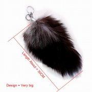 Móc khóa lông đuôi chồn đen dài 30 cm