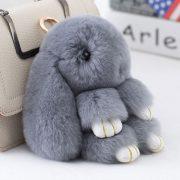 Móc khoá thỏ bông xù lông nhân tạo 18 cm
