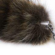 Móc khóa lông đuôi chồn hương cầy vòng