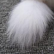 Móc khoá chồn bông xù lông nhân tạo 17cm