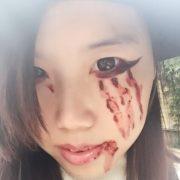 Chai máu giả hóa trang diễn xuất halloween