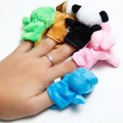 bộ 10 con rối ngón tay hình thú vải bông cao cấp