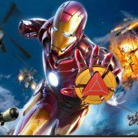 Con quay huy hiệu Iron Man Hand Spinner