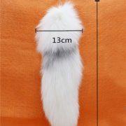 Móc khóa lông đuôi Cáo tuyết Bắc Cực