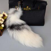 Móc khóa lông đuôi Cáo tuyết Bắc Cực dài 44 cm