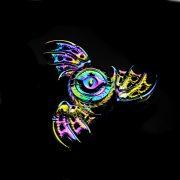 Con quay 3 cánh mắt rồng đa sắc Dragon Eyes Spinner