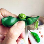 Móc Khóa Đậu Nành giảm stress Squeezed Toys