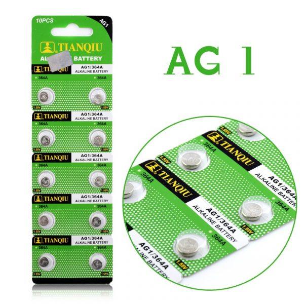 Vỉ 10 Viên Pin Alkaline G1 AG1 364 SR621SW LR621 621 LR60 CX60