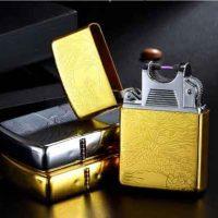 Bật lửa điện Plasma Zippo Lighter ARC rồng vàng