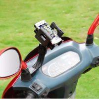 Giá đỡ điện thoại gắn kính chiếu hậu mô tô xe máy