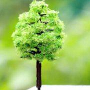Cây nhựa mini style 5 phụ kiện trang trí tiểu cảnh terrarium