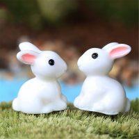 Cặp thỏ mini phụ kiện trang trí tiểu cảnh terrarium