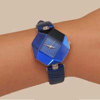 Đồng hồ mặt đá thời trang dây da
