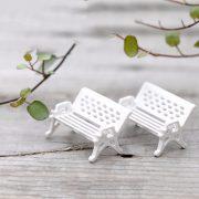 Cặp ghế ngồi mini phụ kiện trang trí tiểu cảnh terrarium