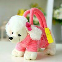 Túi xách chó bông xù lông trắng dễ thương