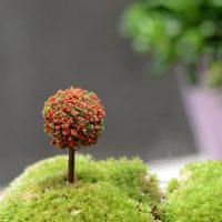Cây bonsai tròn mini style 3 phụ kiện trang trí tiểu cảnh terrarium