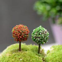 Cây bonsai tròn mini phụ kiện trang trí tiểu cảnh terrarium