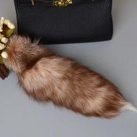 Móc khóa lông đuôi Cáo lửa firefox red panda dài 44 cm