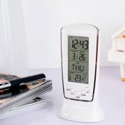 Đồng hồ lcd để bàn thông minh có đèn led đo nhiệt độ