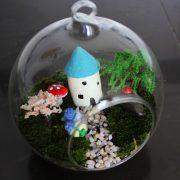 Bể tiểu cảnh treo mini tank wall terrarium aquarium 8 cm