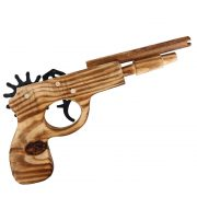 Súng lục ngắn bắn thun đồ chơi gỗ