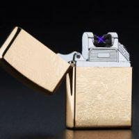 Bật lửa điện 2 tia Plasma Zippo double ARC Lighter rồng vàng