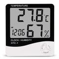 Đồng hồ LCD để bàn đo độ ẩm nhiệt độ phòng