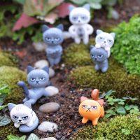 Tượng mèo kawaii chii chỉ đơn giản là dễ thương trang trí tiểu cảnh