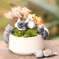 Tượng mèo chii kawaii chỉ đơn giản là dễ thương trang trí tiểu cảnh