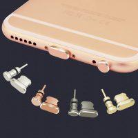 2 nút aluminum chống bụi tai nghe và cổng sạc iphone lightning