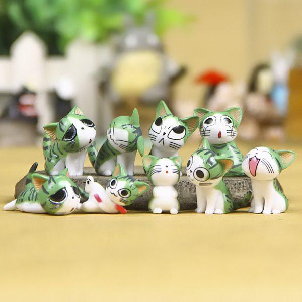 Tượng mèo 9 sắc thái kawaii chii dễ thương trang trí tiểu cảnh