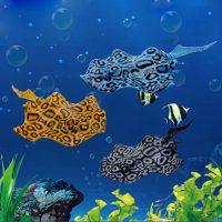 Cá đuối da báo devil Stingray trang trí bể cá hiệu ứng phát sáng