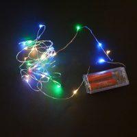 Dây đèn 30 Led 3m trang trí nhiều màu sử dụng 2 pin aa