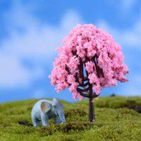 Cây tiểu cảnh kawaii mini hồng phụ kiện trang trí terrarium