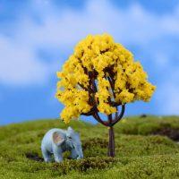 Cây tiểu cảnh kawaii mini vàng phụ kiện trang trí terrarium