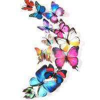 10 con bướm 3d dán tường đủ màu