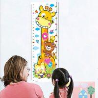 Decal dán tường thướt đo chiều cao con hưu cao cổ 23.9 x 69.5 cm