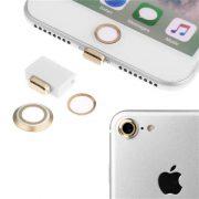4 nút silicone aluminum chống bụi bảo vệ cổng sạc camera home iphone 7