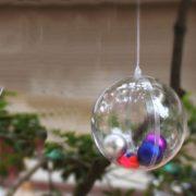 Trái Châu trong suốt trang trí Noel tiểu cảnh