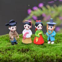 Cô dâu chú rể kpop hàn quốc mini phụ kiện trang trí tiểu cảnh terrarium