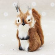 Sóc nhồi bông lông nhân tạo 7.5 cm trang trí làm quà tặng